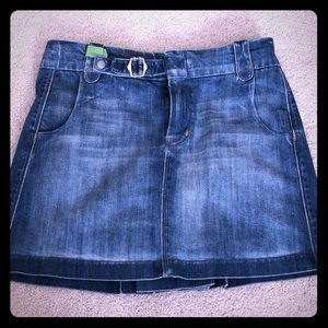 7 for all mankind denim skirt, size 29.
